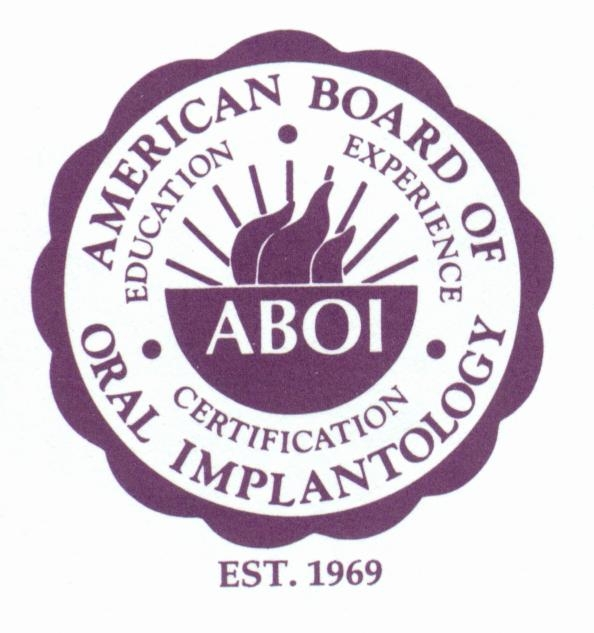 Dr. Fitzgerald was elected a Diplomate of the American Board of Oral Implantology/Implant Dentistry