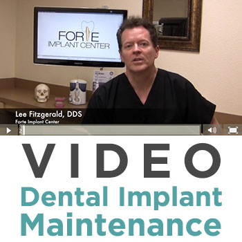 taking care of dental implants